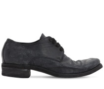 HANDMADE LEATHER LACE-UP SHOES