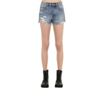 SHORTS AUS BAUMWOLLDENIM 'TONGUE N CHEEK'