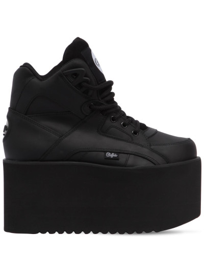 100MM HOHE PLATEAUSNEAKERS AUS LEDER 'HIGH TOWER'