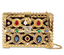 DOLCE BOX JEWELED CLUTCH