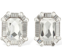 SQUARE CRYSTAL CLIP-ON EARRINGS