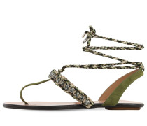 10MM SURF SUEDE & ROPE THONG SANDALS