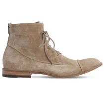 25MM ZIP & LACE-UP SUEDE BOOTS