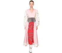 SWEENY PRINTED COTTON POPLIN MAXI DRESS