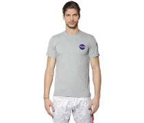 T-SHIRT AUS BAUMWOLLJERSEY 'NASA SPACE SHUTTLE'