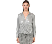 WAXED JERSEY BLOUSE