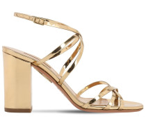 85MM GIN MIRRORED LEATHER SANDALS