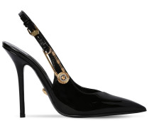 110MM PATENT LEATHER SLING BACK PUMPS