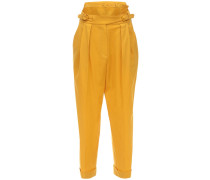 STRUCTURED COOL WOOL STRAIGHT PANTS