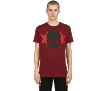 SKULL & STARS COTTON JERSEY T-SHIRT