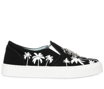 20MM HOHE SLIP-ON-SNEAKERS AUS BAUMWOLLE 'PALMS'
