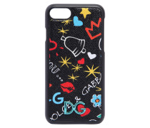 IPHONE 7-COVER AUS LEDER MIT GRAFFITI