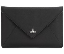 VICTORIA LEATHER ENVELOPE CLUTCH