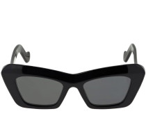 BOLDED CAT EYE ACETATE SUNGLASSES