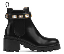 40MM TRIP EMBELLISHED LEATHER BOOTS
