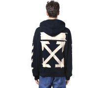 PRINT TAPE ARROWS OVER JERSEY HOODIE
