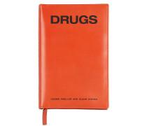 LEDERBEUTEL MIT ZIP UND DRUCK 'DRUGS'