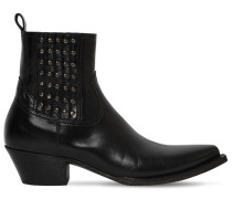 TEX HOUSTON STUDDED LEATHER BOOTS