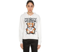 SAFETY PIN BEAR COTTON SWEATSHIRT HOODIE