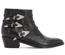 45MM VINTAGE LEATHER ANKLE BOOTS