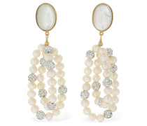 WINDFLOWER CRYSTAL & PEARL EARRINGS
