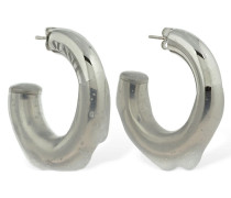 HOOP EARRINGS WITH TRANSPARENT RUBBER
