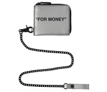 REFLECTIVE 'FOR MONEY' CHAIN WALLET