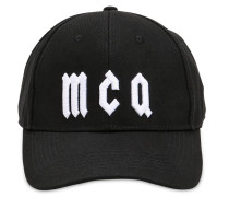 MCQ EMBROIDERED CANVAS BASEBALL HAT