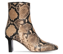 75MM BILLY SNAKE PRINT LEATHER BOOTS