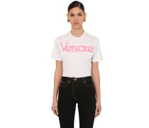 EMBROIDERED 80S LOGO JERSEY T-SHIRT