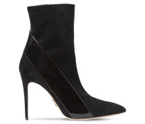 100MM SUEDE & PATENT LEATHER BOOTS