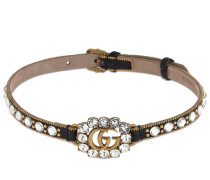 GG MARMONT CRYSTAL LEATHER CHOKER