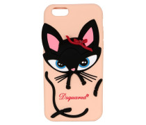 IPHONE 3-COVER AUS SILIKON MIT 6D-EFFEKT 'CAT'