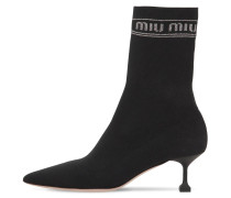 55MM LOGO TECH KNIT ANKLE BOOTS