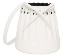 MINI PLEATED LEATHER BUCKET BAG