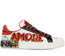 20MM HOHE LEDERSNEAKERS 'AMORE'