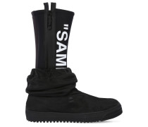 'SAMPLE' NEOPRENE & TULLE RAIN BOOTS