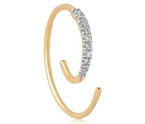 MONO-OHRRING AUS 14KT GOLD 'LOOP'