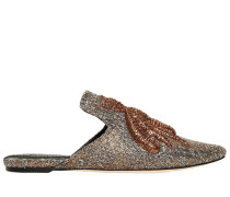 10MM HOHE MULES-SCHUHE AUS WOLLE