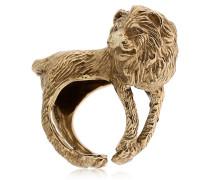 RING AUS MESSING 'LION'
