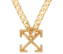 LOGO ARROWS METAL NECKLACE