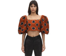 CROPPED COTTON VOILE TOP