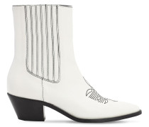 40MM LEATHER ANKLE BOOTS