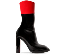 105MM POLISHED LEATHER ANKLE BOOTS