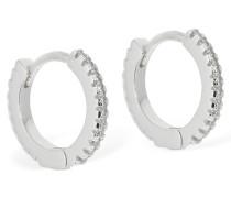 MINI HOOP EARRINGS W/ CRYSTALS