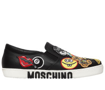 20MM HOHE SLIP-ON-SNEAKERS AUS LEDER MIT PATCHES