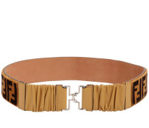 FF TERRYCLOTH & LEATHER HIGH WAIST BELT