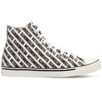 HOHE SNEAKERS AUS CANVAS MIT LOGODRUCK