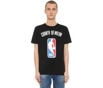 T-SHIRT AUS BAUMWOLLJERSEY MIT NBA-DRUCK