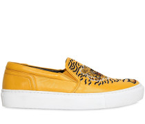 20MM HOHE SLIP-ON-SNEAKERS AUS LEDER 'GEO TIGER'